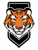 Tiger's head emblem Stock Image