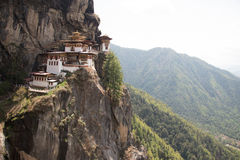 Tiger's Nest Monastery in Bhutan. Tiger's Nest Monastery also know as Taktsang Palphug Monastery.  Located in the cliffside of the upper Paro valley, in Bhutan Stock Photography
