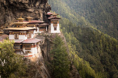 Tiger's Nest Monastery in Bhutan. Tiger's Nest Monastery also know as Taktsang Palphug Monastery.  Located in the cliffside of the upper Paro valley, in Bhutan Royalty Free Stock Photography