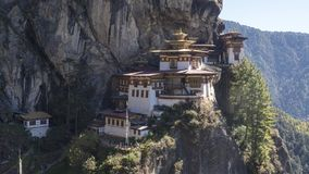 Tiger`s Nest monastery. Kingdom of Bhutan. Tiger`s Nest monastery near Paro. Paro Taktsang. Kingdom of Bhutan. Asia Stock Images