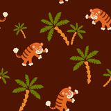 Tiger seamless pattern Royalty Free Stock Image
