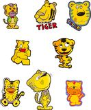 Tiger Set One Royalty Free Stock Image