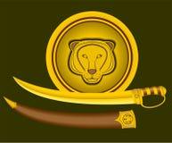 Tiger Shield und Klinge. Lizenzfreie Stockfotografie