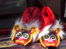 Tiger shoes. Chinese features folk handicrafts tiger shoes Royalty Free Stock Photography