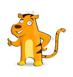 Tiger showing thumps up Royalty Free Stock Photos