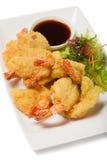 Tiger shrimp fried in Tempura Royalty Free Stock Photos