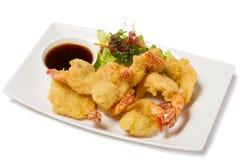Tiger shrimp fried in Tempura stock photo