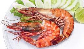 Tiger Shrimp Salted Roast Stock Photo