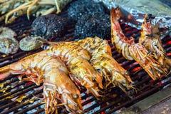 Tiger shrimps food barbecue Stock Photos