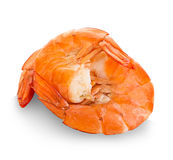 Tiger shrimps. Prawns isolated on a white background. Seafood Royalty Free Stock Photography