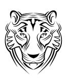 Tiger sign Royalty Free Stock Photo