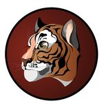 Tiger.Sign of 2010 year. Tiger animal symbol graphic wild stock illustration