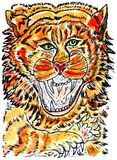 Tiger Sketch Royalty Free Stock Photo