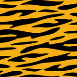 Tiger Skin animal texture wallpaper Vector Stock Image