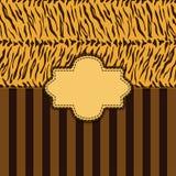 Tiger skin background Stock Images