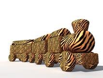 Tiger Skin-trein Stock Foto's