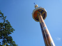 Tiger Sky Tower at Sentosa Island. On the beautiful sky day Royalty Free Stock Images