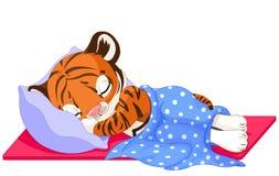 Tiger Sleeping sveglio illustrazione di stock