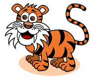 A tiger smiling on profile Royalty Free Stock Photo