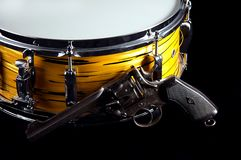 Tiger Snare Drum Revolver Gun Royalty Free Stock Images