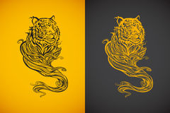 Tiger Spirit. Illustration of tiger spirit, in tattoo tribal style Royalty Free Stock Photography