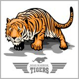 Tiger attack - sport mascot style Royalty Free Stock Photos
