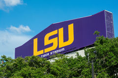 Tiger Stadium sign at LSU Royalty Free Stock Photography