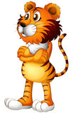 A tiger standing alone. Illustration of a tiger standing alone on a white background Stock Photos