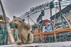 Tiger Statue au parc de Comerica Images stock