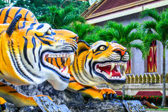 Tiger. Statue at  Cave Temple , Krabi , South of Thailand Stock Photo