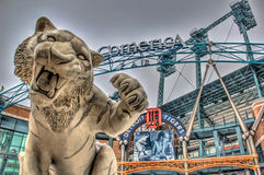 Tiger outside Comerica Park, Detroit, Michigan stock photography