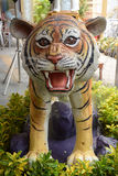 Tiger statue in the garden Royalty Free Stock Image