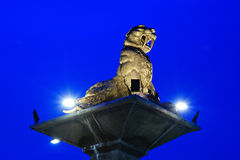 Tiger statue. This is a Tiger statue intersection. It is location in Krabi Town stock photography