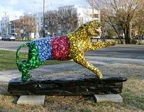 Tiger Statue pintado à mão colorido, Memphis Tennessee foto de stock royalty free