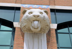 Tiger Statues at Comerica Park on Woodward Avenue, Detroit Michigan Stock Photography