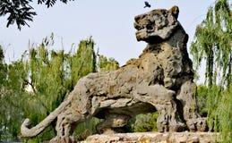 Tiger Stone Statue Beijing lizenzfreies stockbild