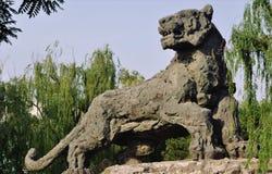 Tiger Stone Statue Beijing lizenzfreies stockfoto