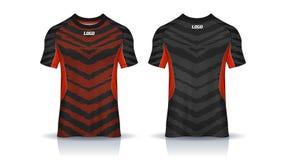 Tiger Stripe Red Football Jersey royaltyfri illustrationer