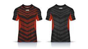 Tiger Stripe Red Football Jersey royalty-vrije illustratie