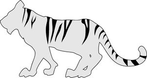 Tiger striped silhouette Stock Image