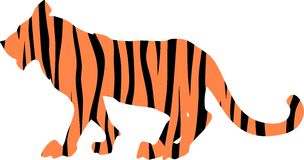 Tiger striped silhouette Stock Photos