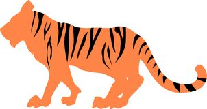 Tiger striped silhouette Stock Photo