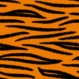 Tiger striped skin seamless pattern, vector. Background Stock Photo
