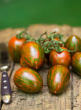 Tiger striped tomatoes Stock Photos