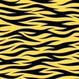 Tiger Stripes Seamless Wallpaper Vector slumpmässig modell vektor illustrationer