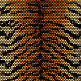 Tiger stripped mosaic vector background Royalty Free Stock Images