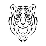 Tiger stylized silhouette, symbol year Royalty Free Stock Image