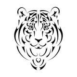 Tiger stylized silhouette, symbol year. Vector illustration stock illustration