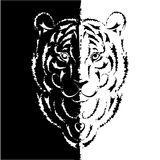 Tiger stylized silhouette, symbol year Royalty Free Stock Images
