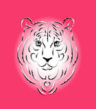 Tiger stylized silhouette, symbol year Royalty Free Stock Photography